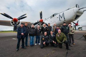 Avro Shackelton WR963 crew after their successful taxi run
